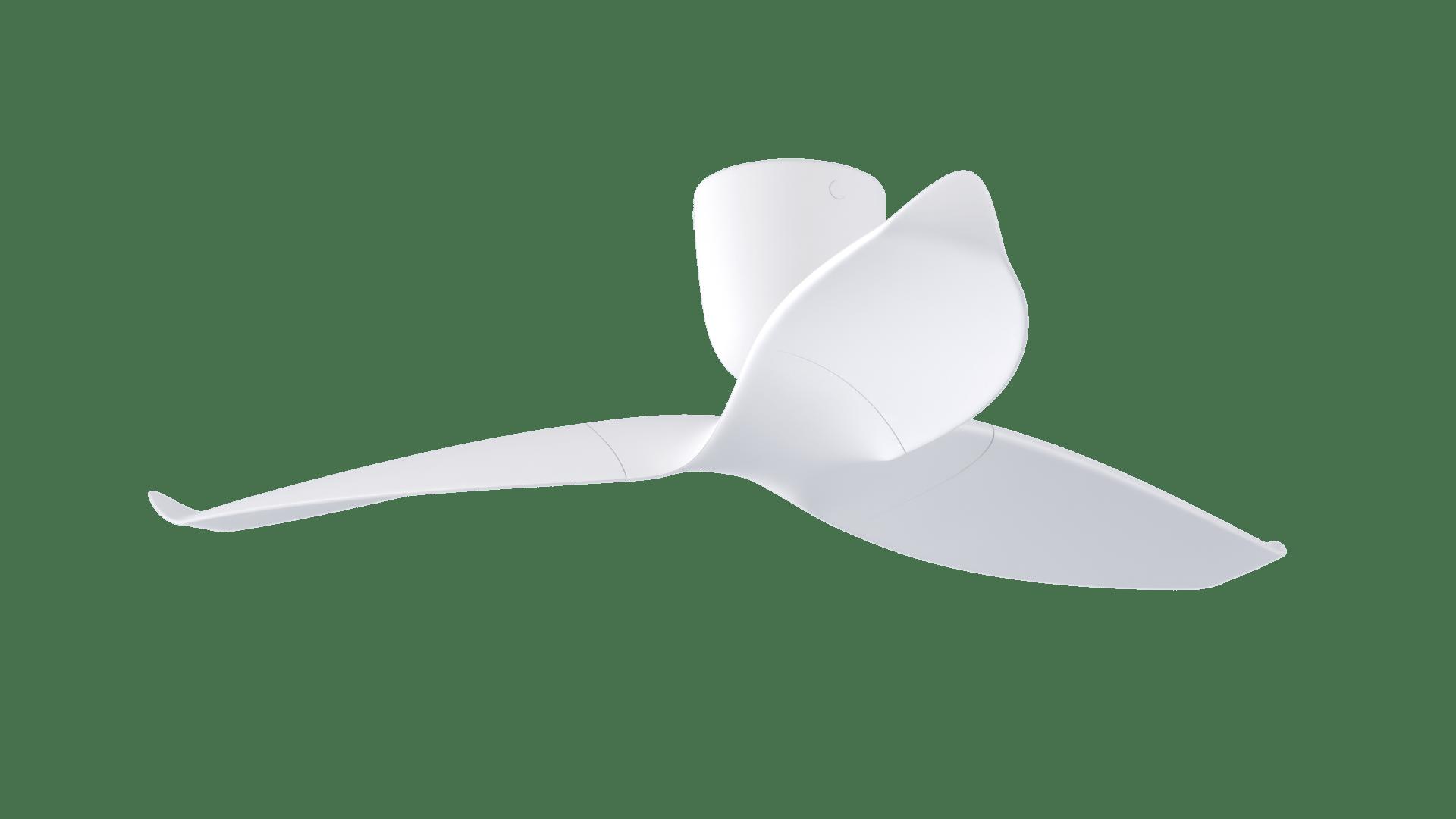 Ventilador de techo de diseño blanco