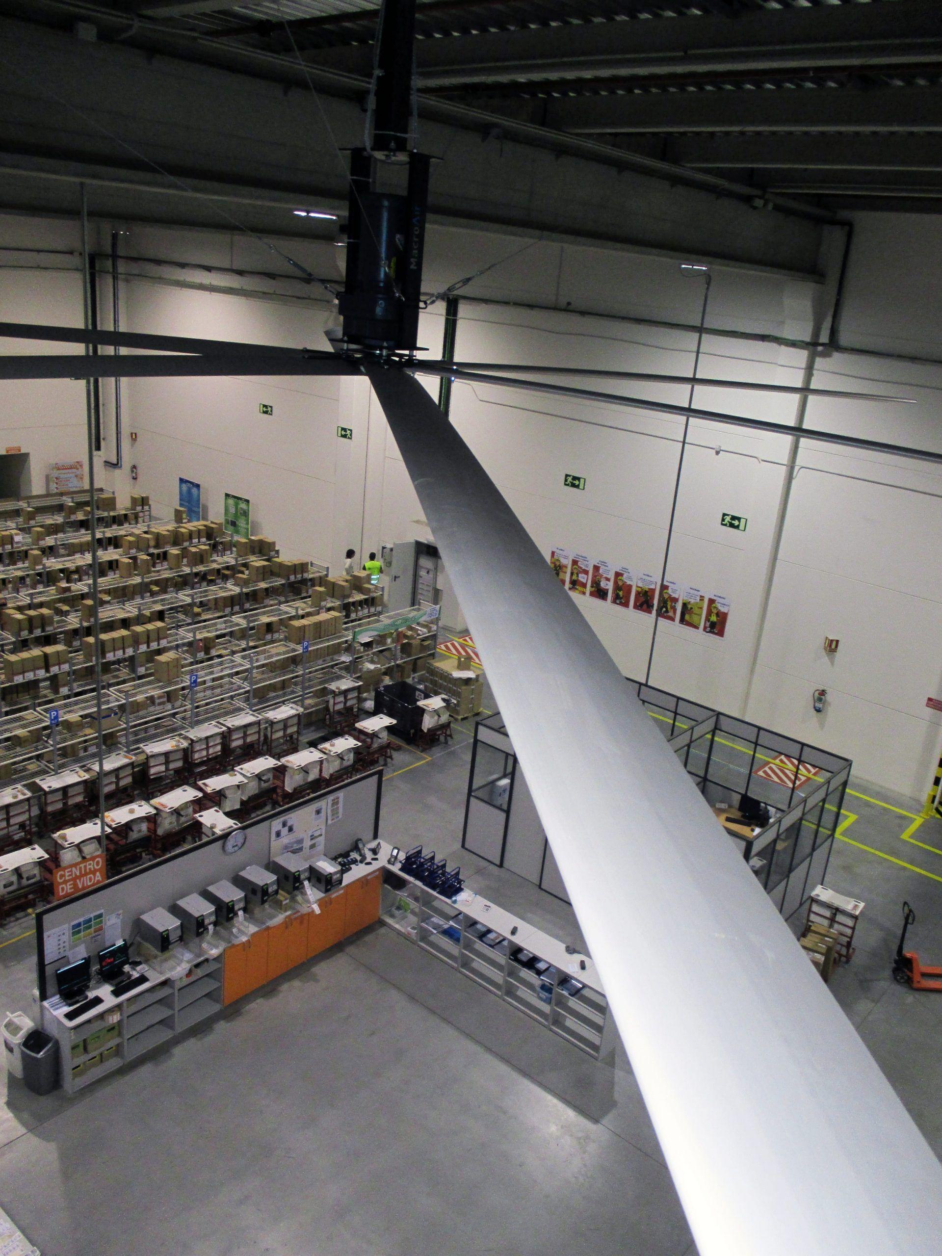 ventiladores industriales techo