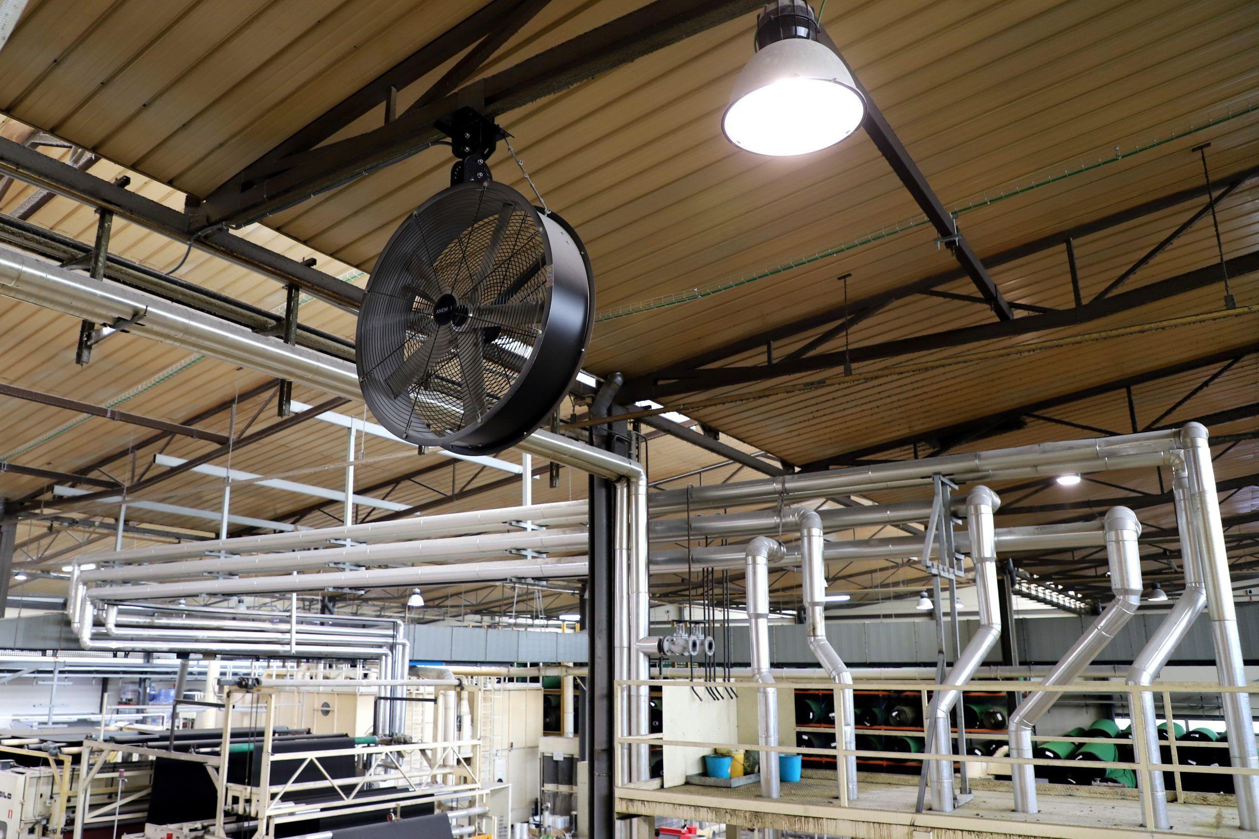 ventilador industrial para viga